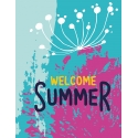 Тетрадь А5/144 пл.обл. Welcome. Summer YES