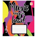 Нотная тетрадь А5 12 л. YES Music Heart
